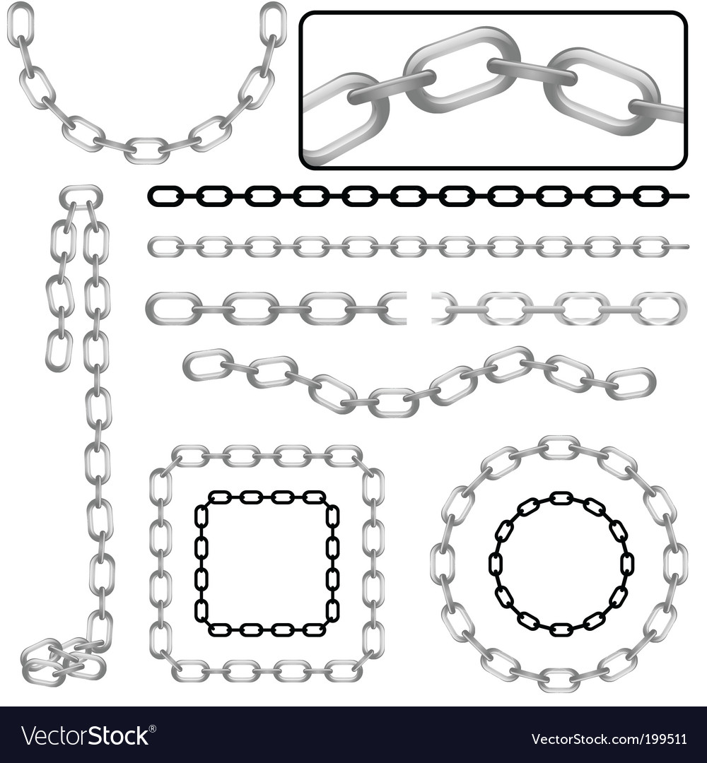 Chains vector image