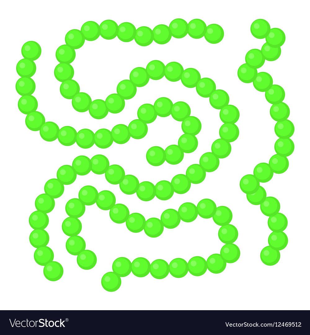 Bacteria icon cartoon style vector image