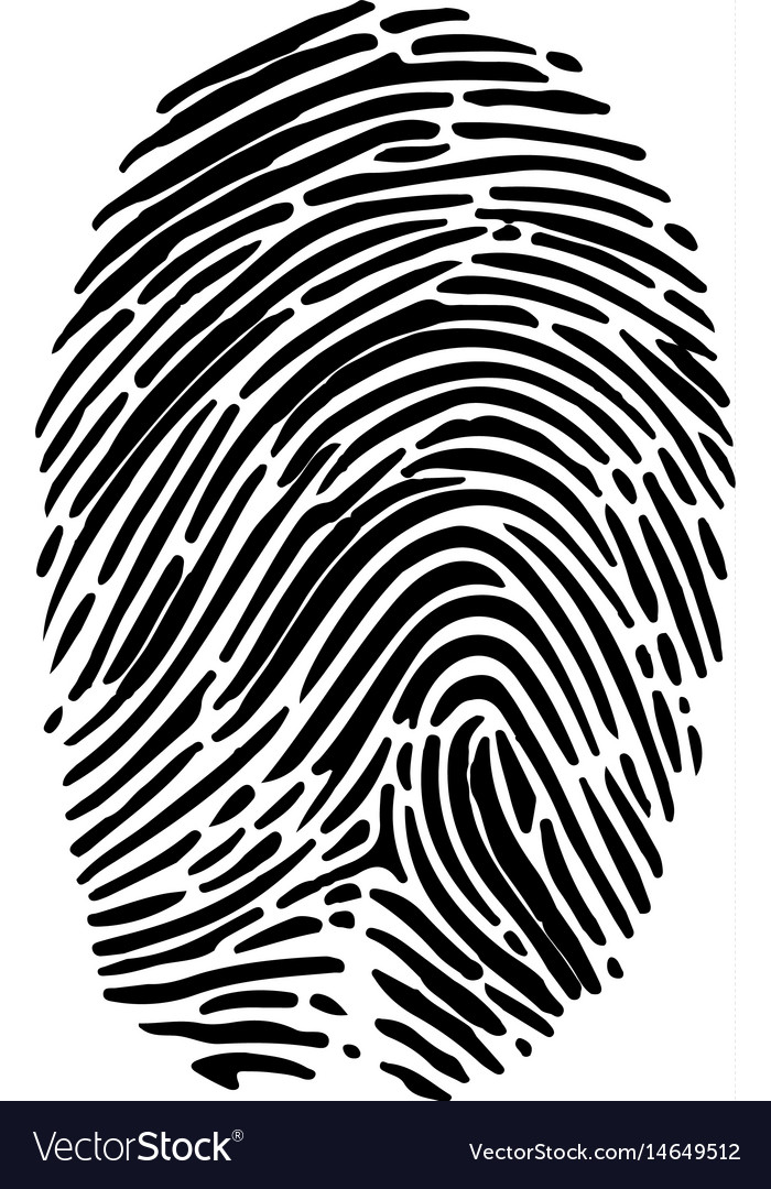 Isolated fingerprint symbol vector image
