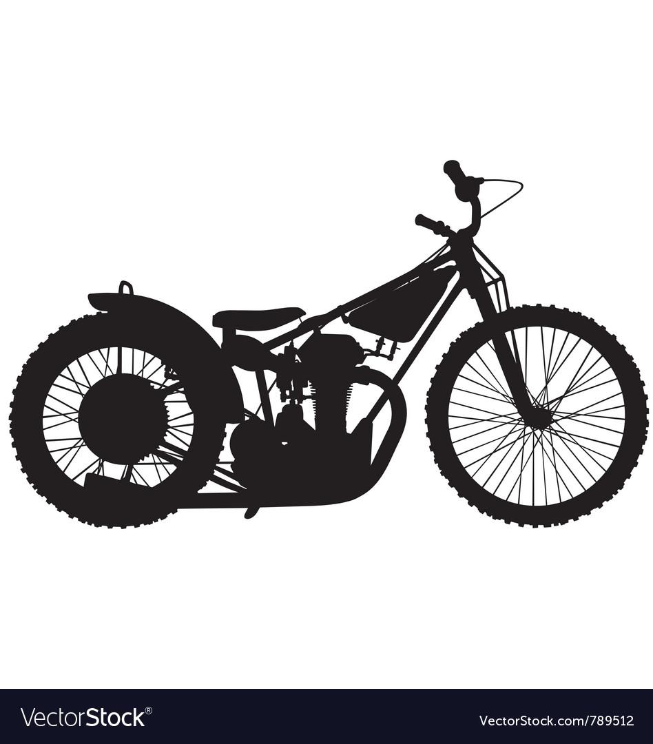 Speedway motorbike silhouette vector image