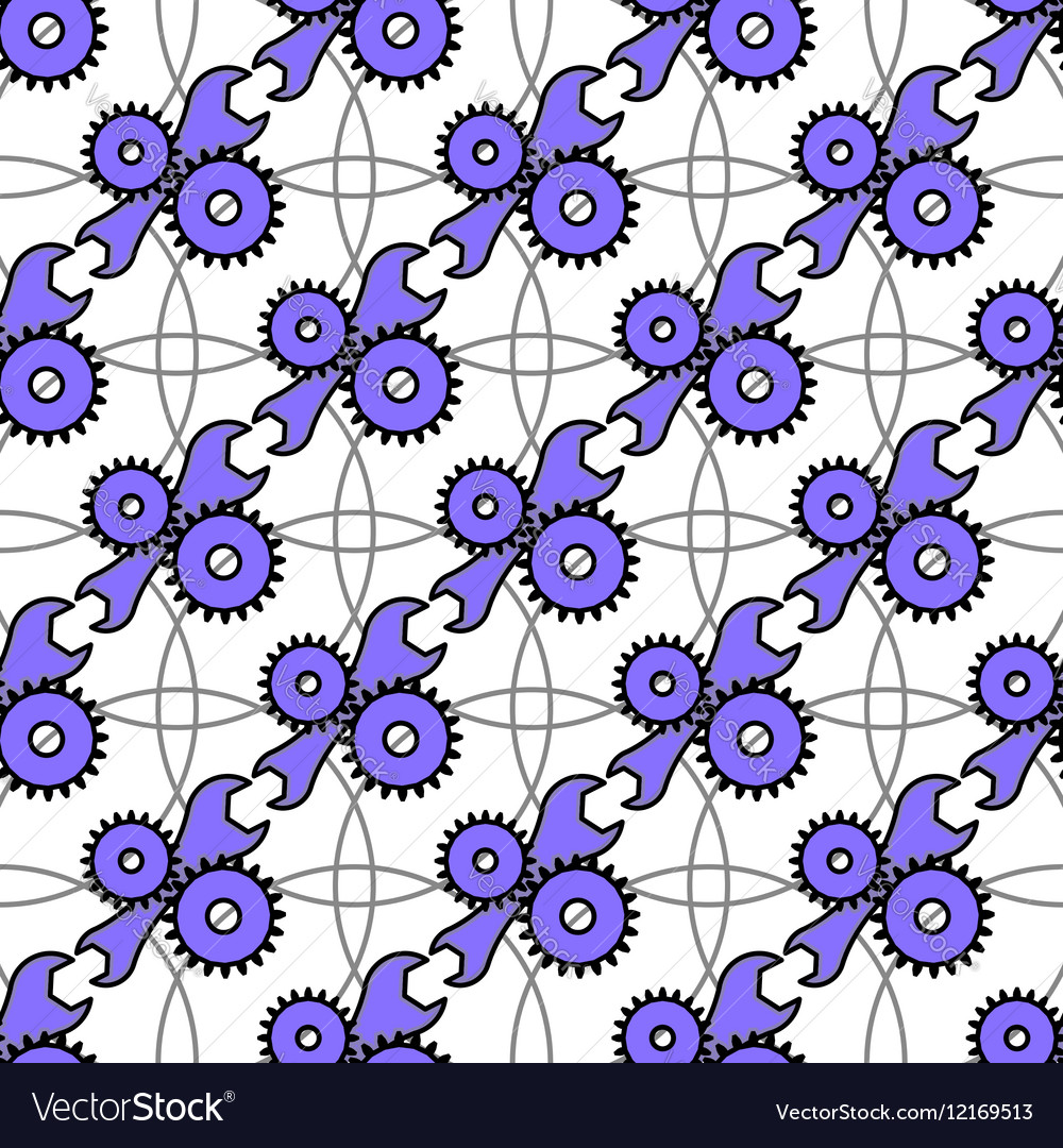 Automotive seamless pattern with service icon vector image