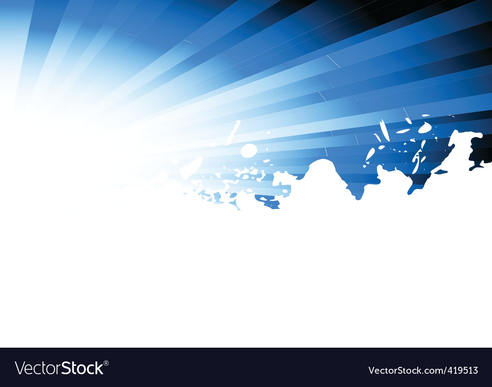 Vector blue grunge background vector image