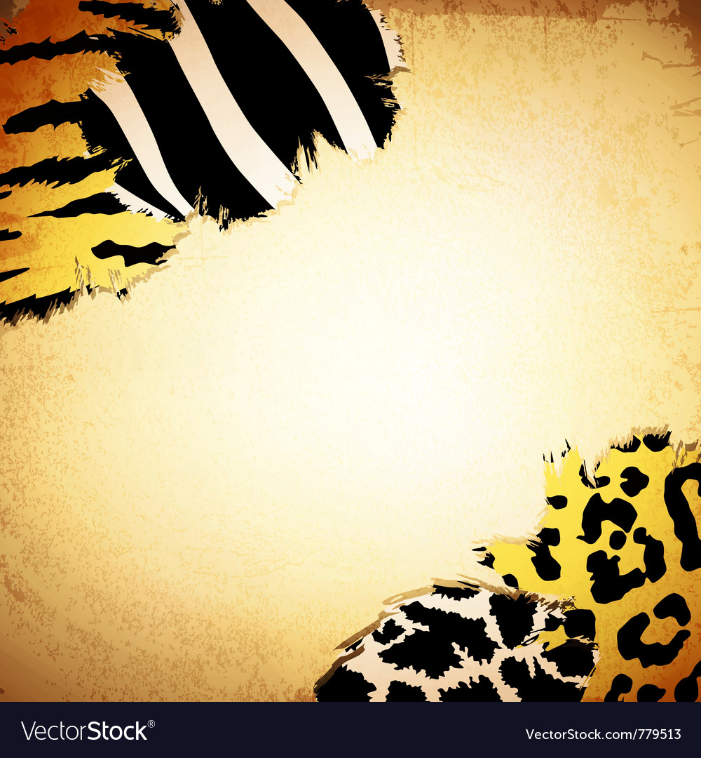 Vintage background with some animal print patterns vector image