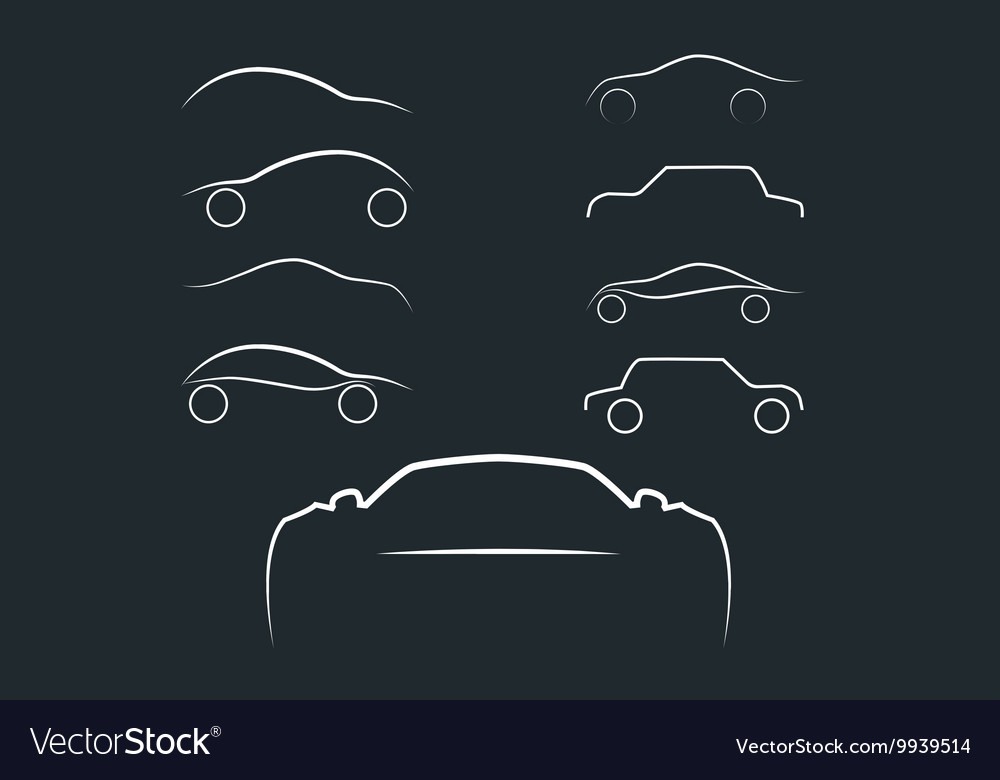 Cars logo set vector image