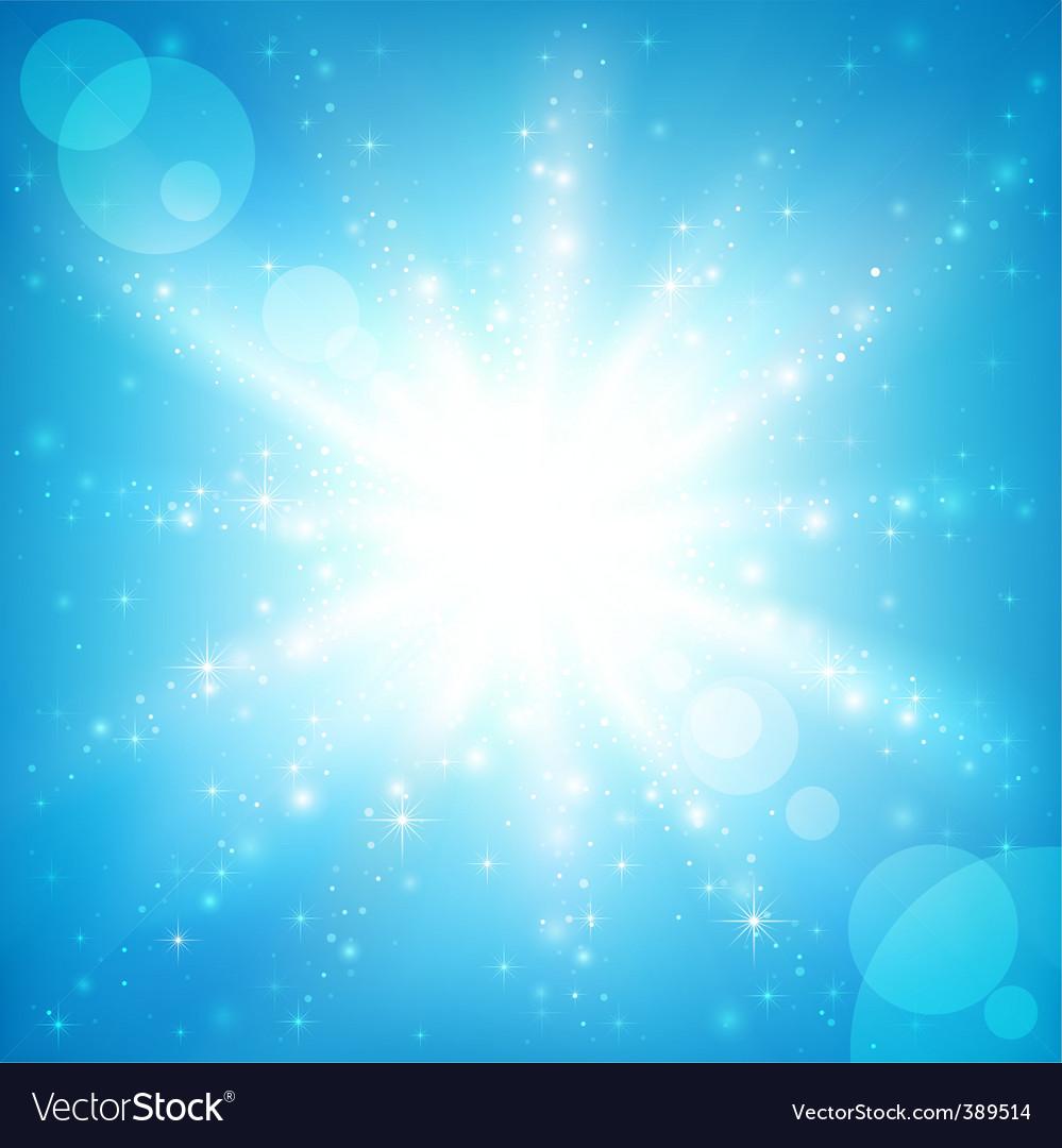 Sun sparkled vector image