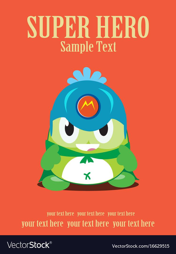 Cartoon of super hero green vector image