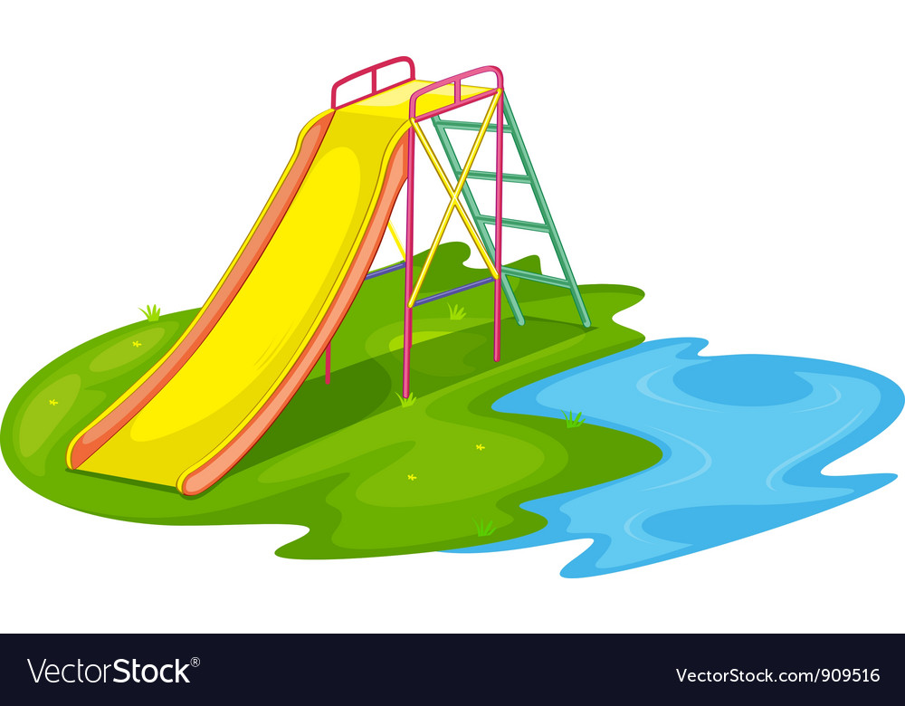 Empty playground vector image