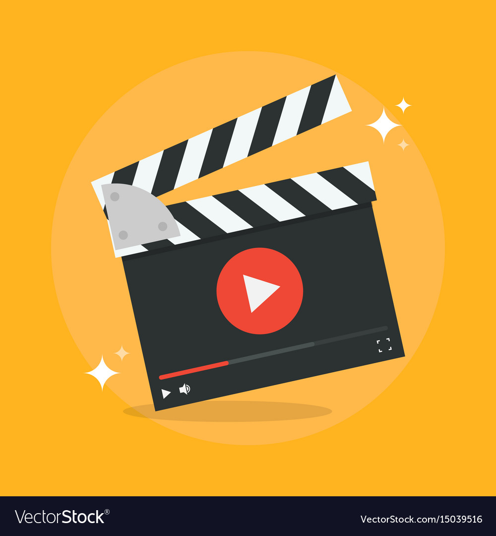 Film production concept vector image