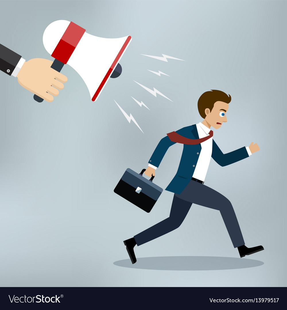 Businessman almost late running for work vector image