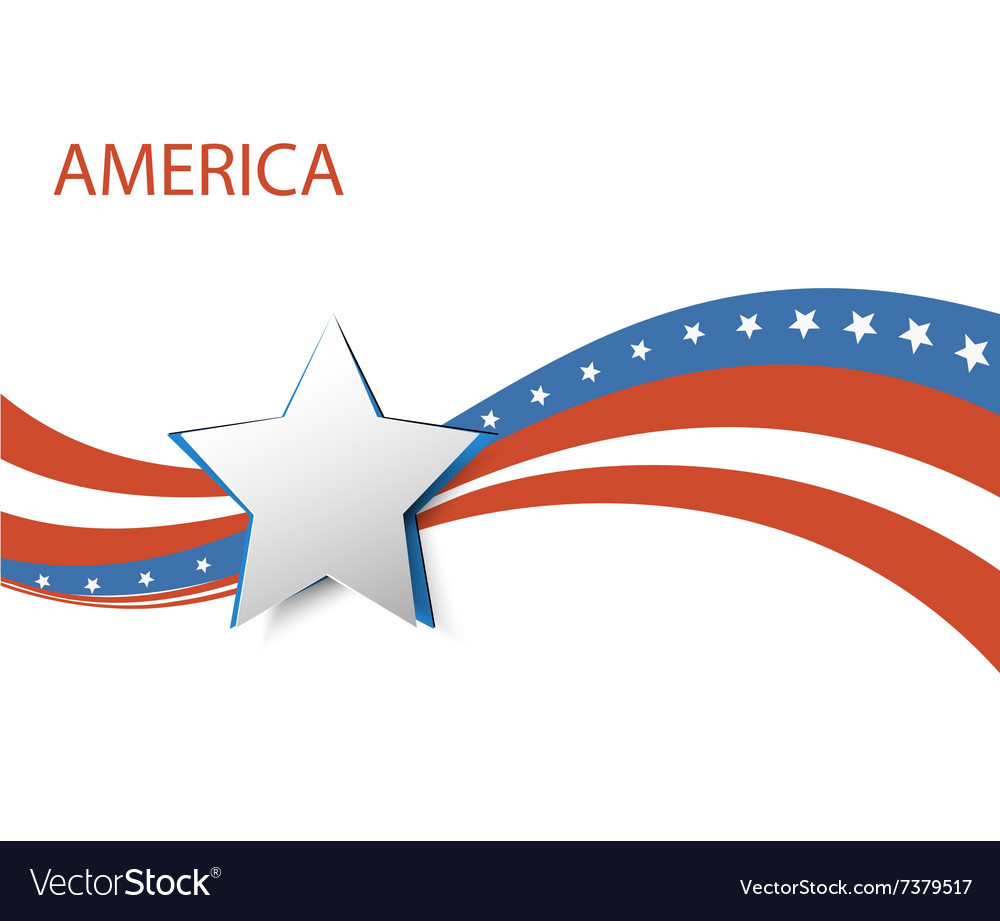USA star flag design elements vector image