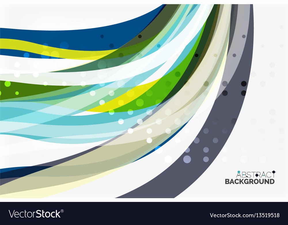 Colorful flowing wave abstract background vector image