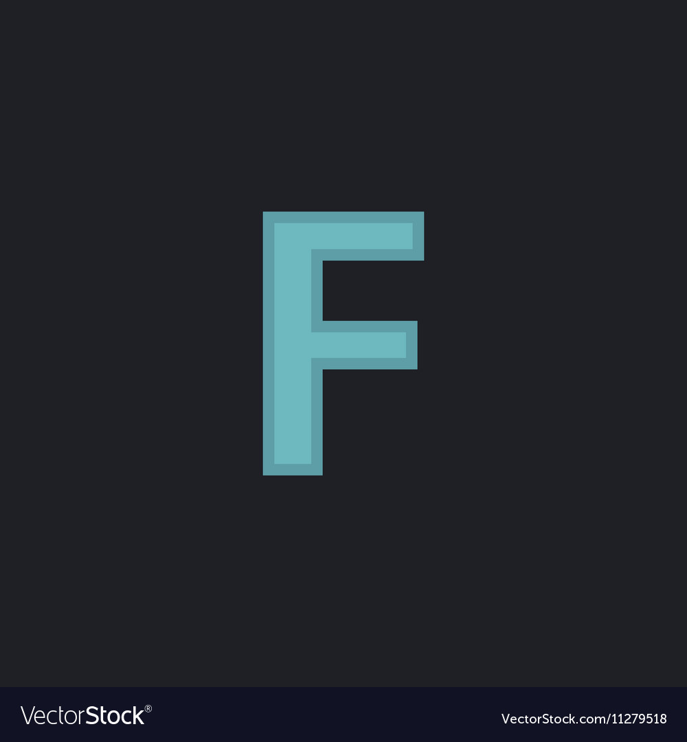 Letter F computer symbol vector image