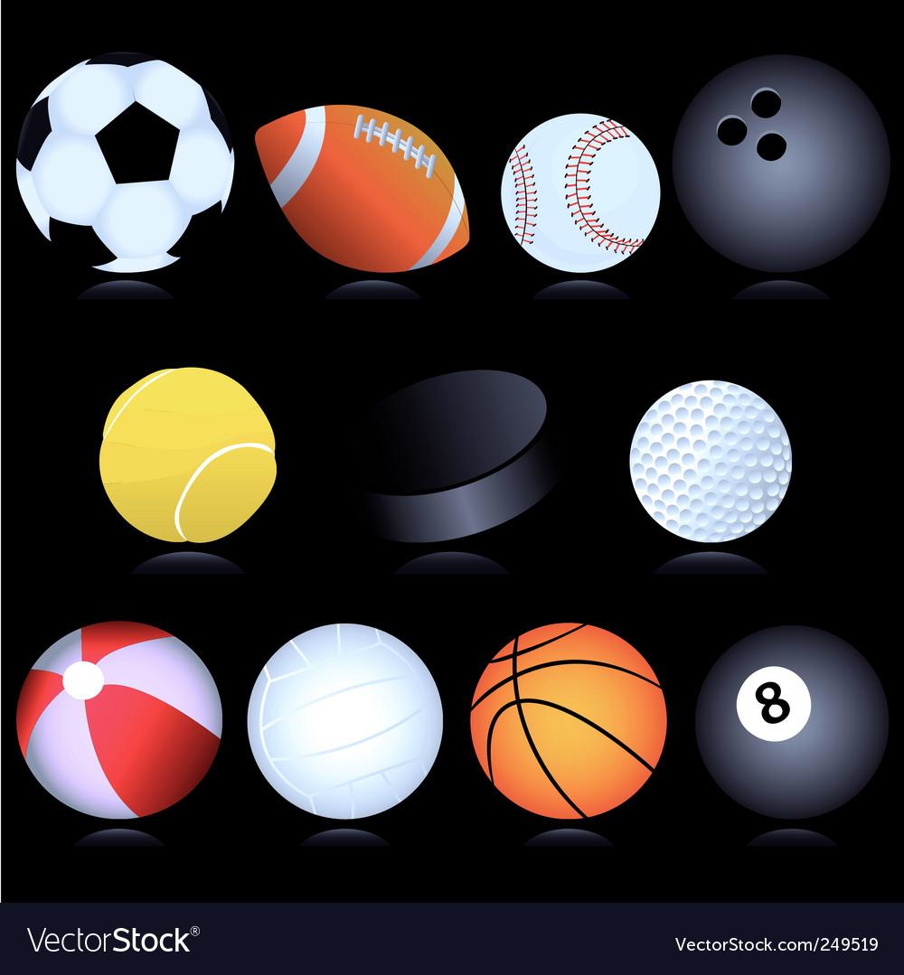 Sport balls vector image