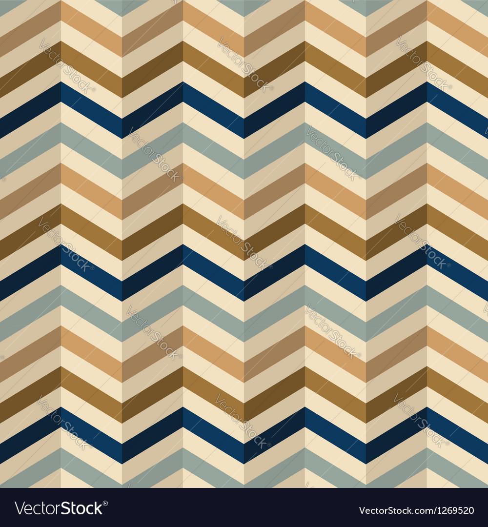 Zigzag chevron pattern in retro colors vector image