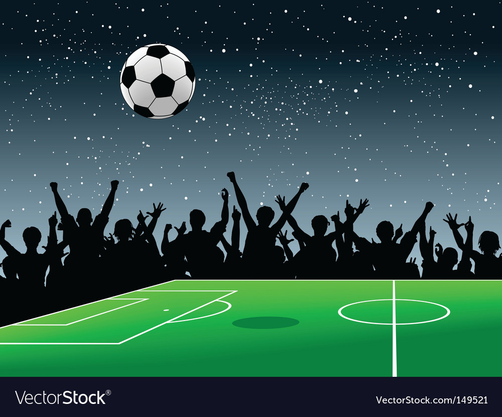 Soccer pitch vector image