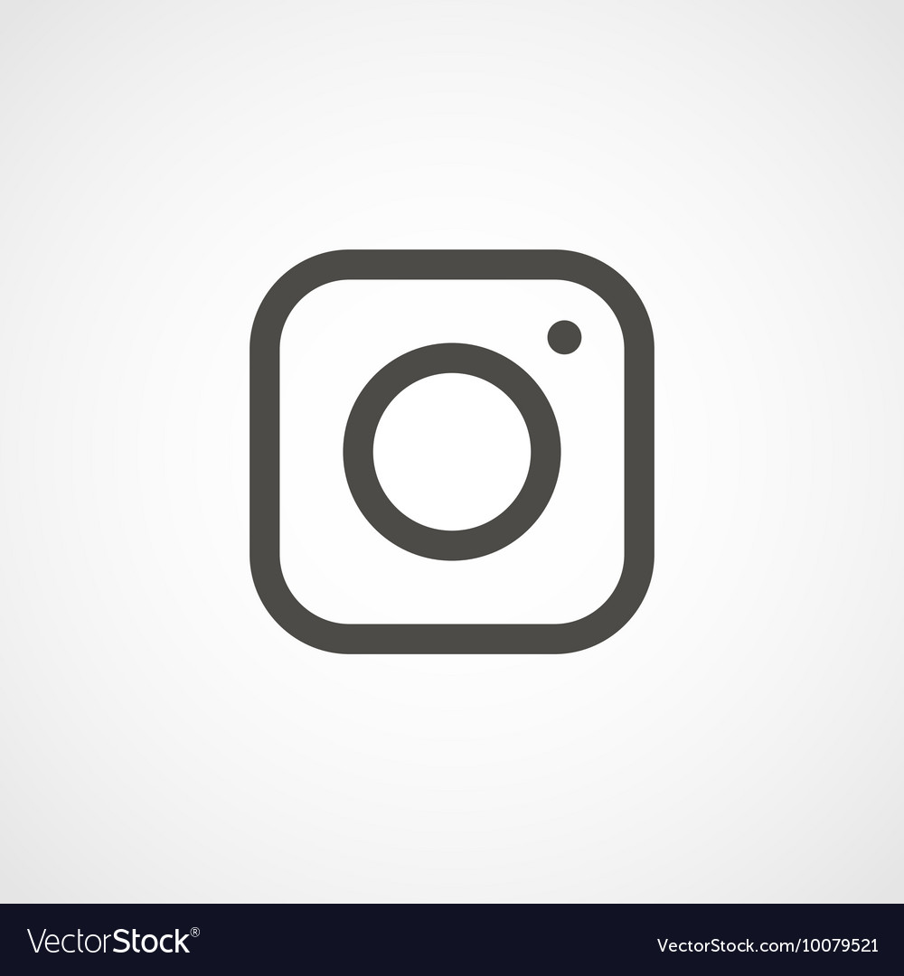 Web icon of modern lineart camera vector image
