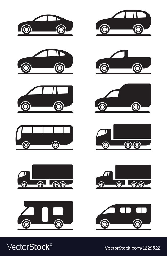 Road transportation icons set vector image