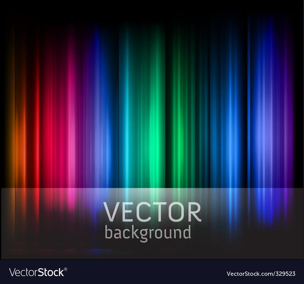 Rainbow stripes vector image