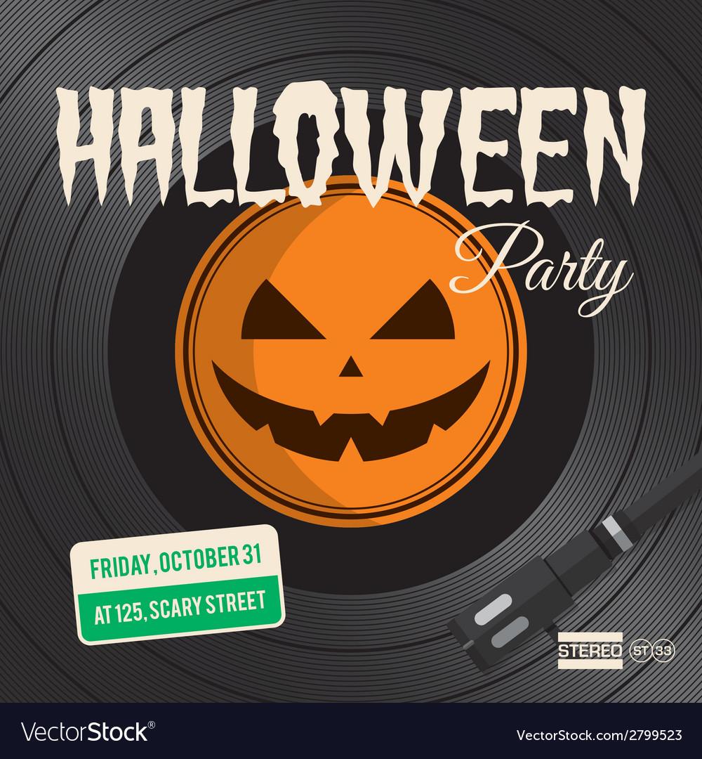 Halloween party vinyl vector image