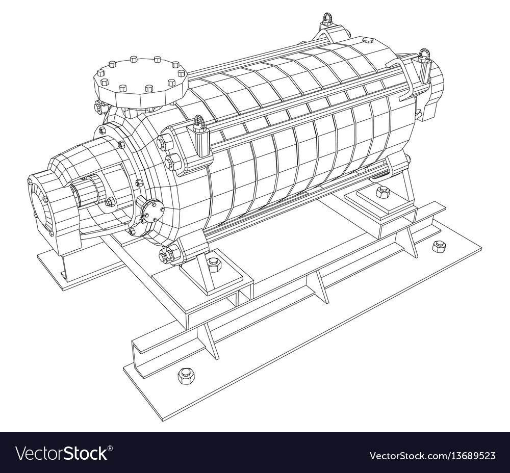 Pumping unit oil industry vector image