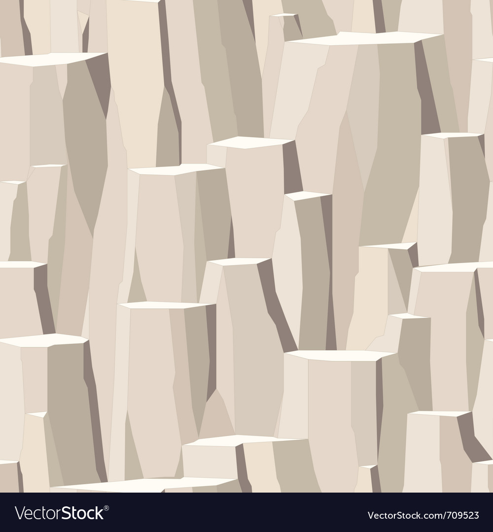 Rock rough stone vector image