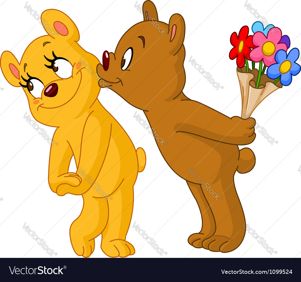 Loving bears vector image