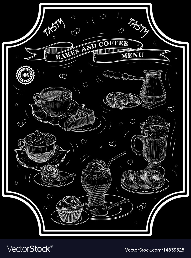 Bakes coffee lettering vector image
