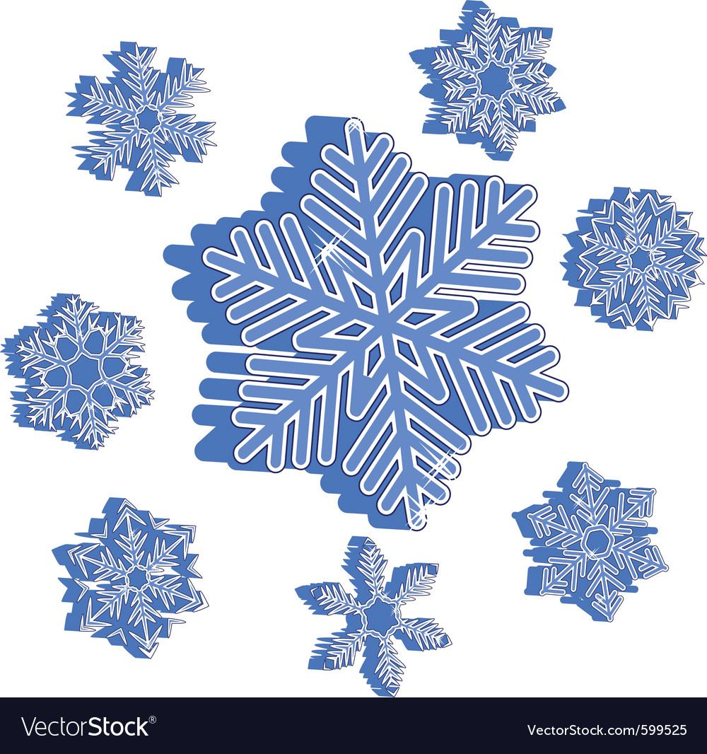 christmas snowflakes royalty free vector image