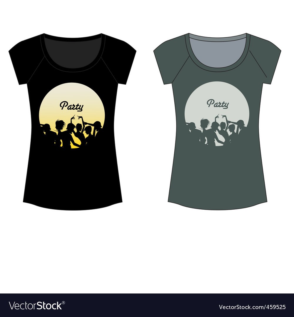 Party t-shirt vector image