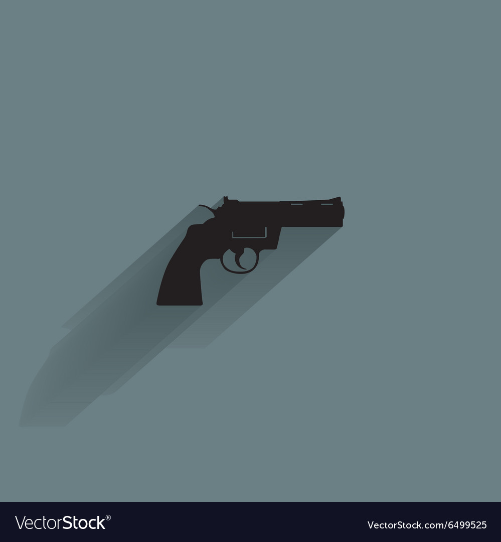 Weapon Silhouette Icon vector image