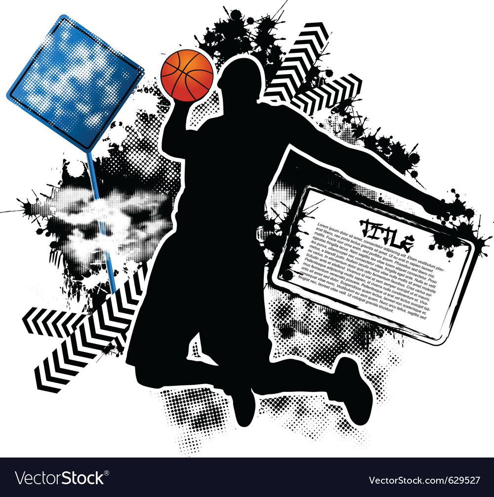 Basketball grunge vector image
