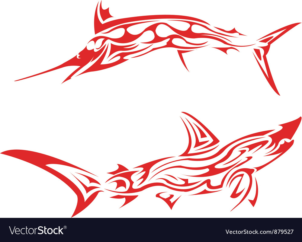 Fishes vector image
