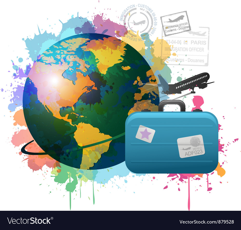 Colorful travel concept vector image