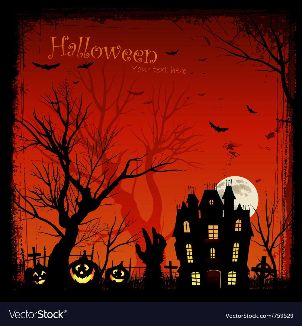 Creepy halloween background vector image
