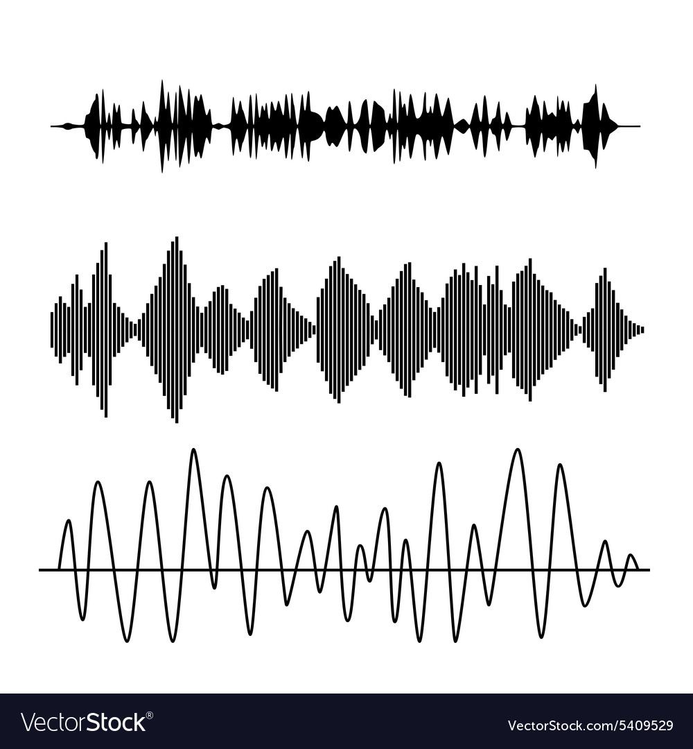 Sound waves vector image