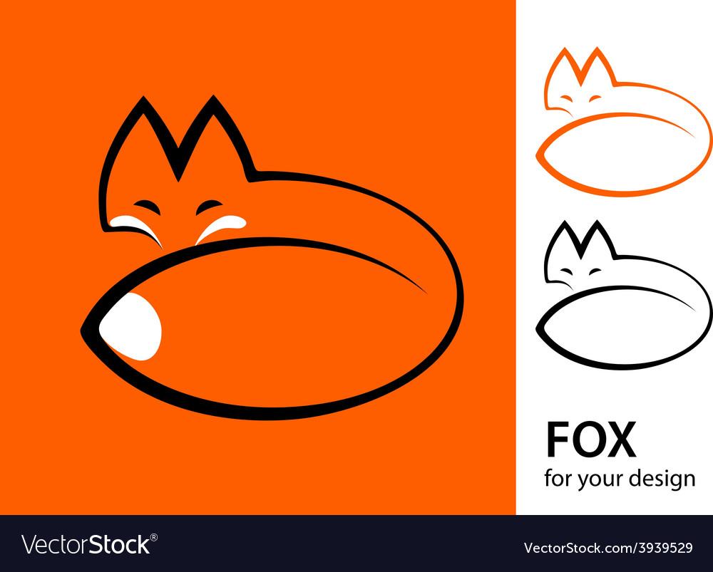 Stylized fox vector image