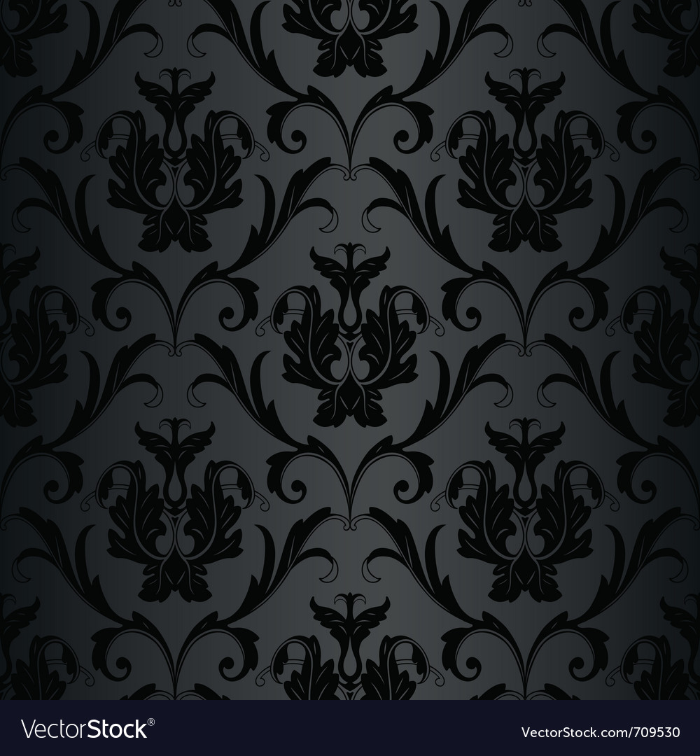 Black wallpaper pattern vector image
