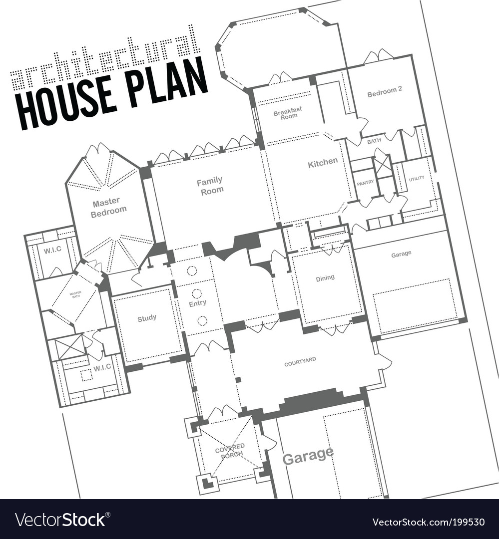 House plan vector image