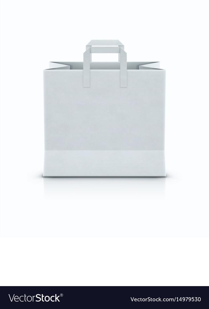 White shopping paper bag vector image