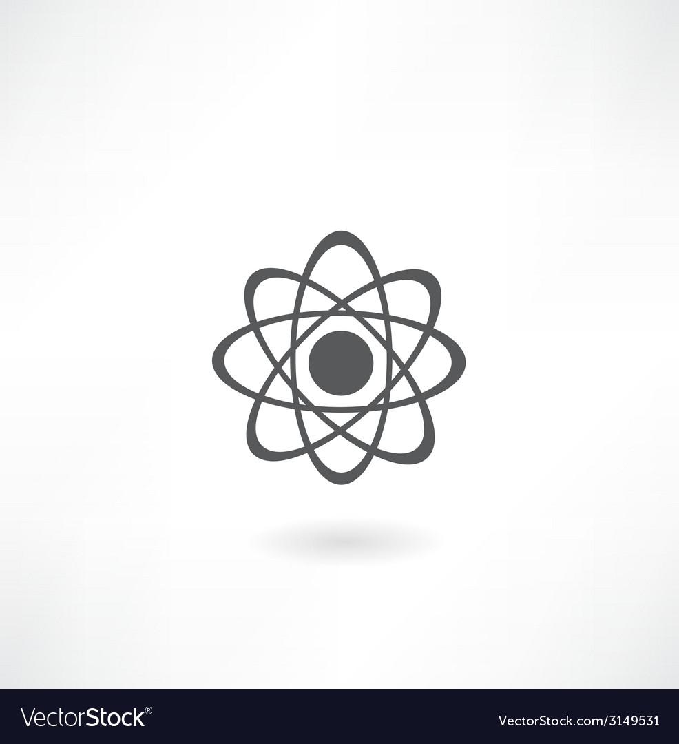 Molecular diagram icon vector image