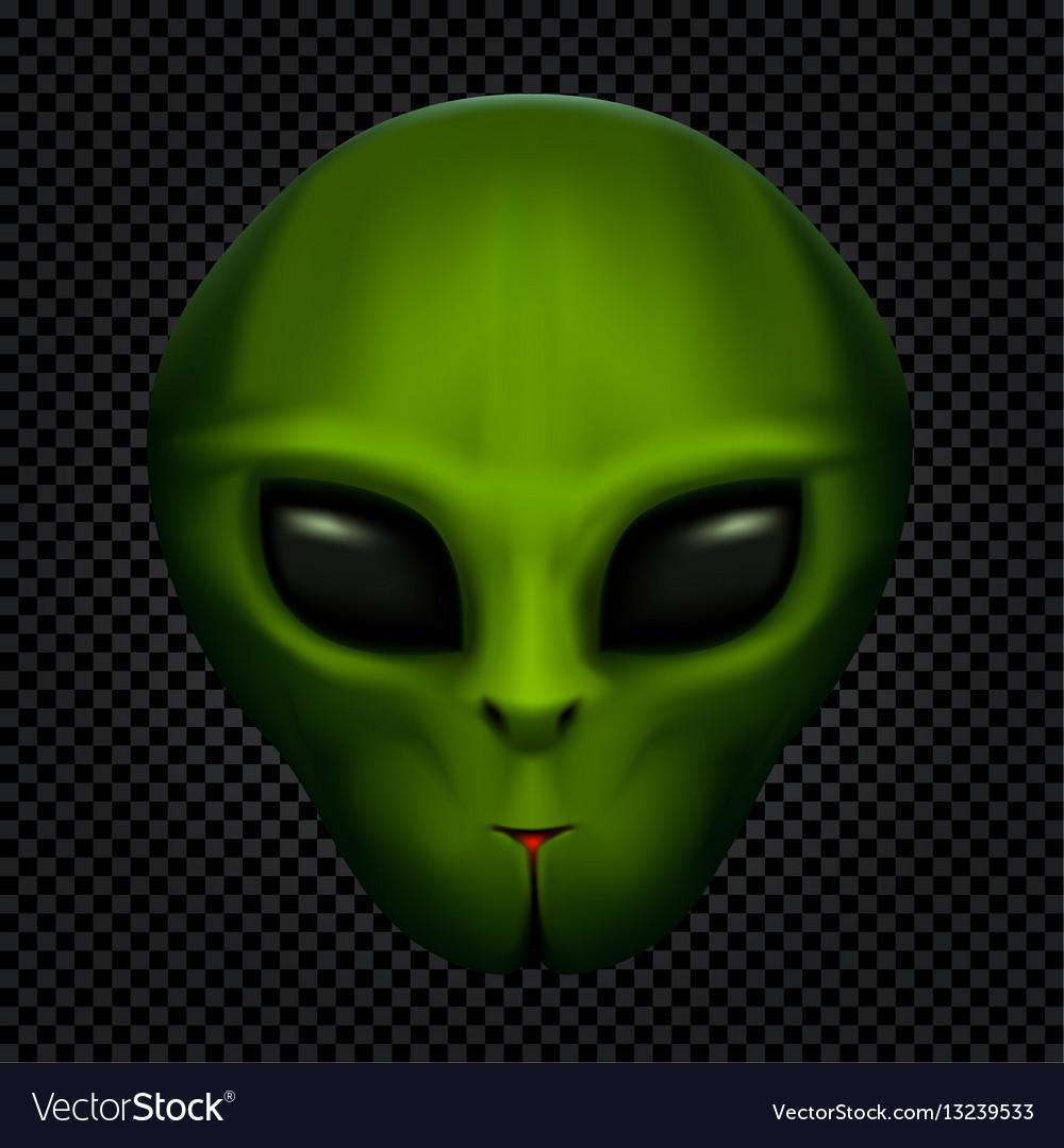 Alien in transparent dark vector image
