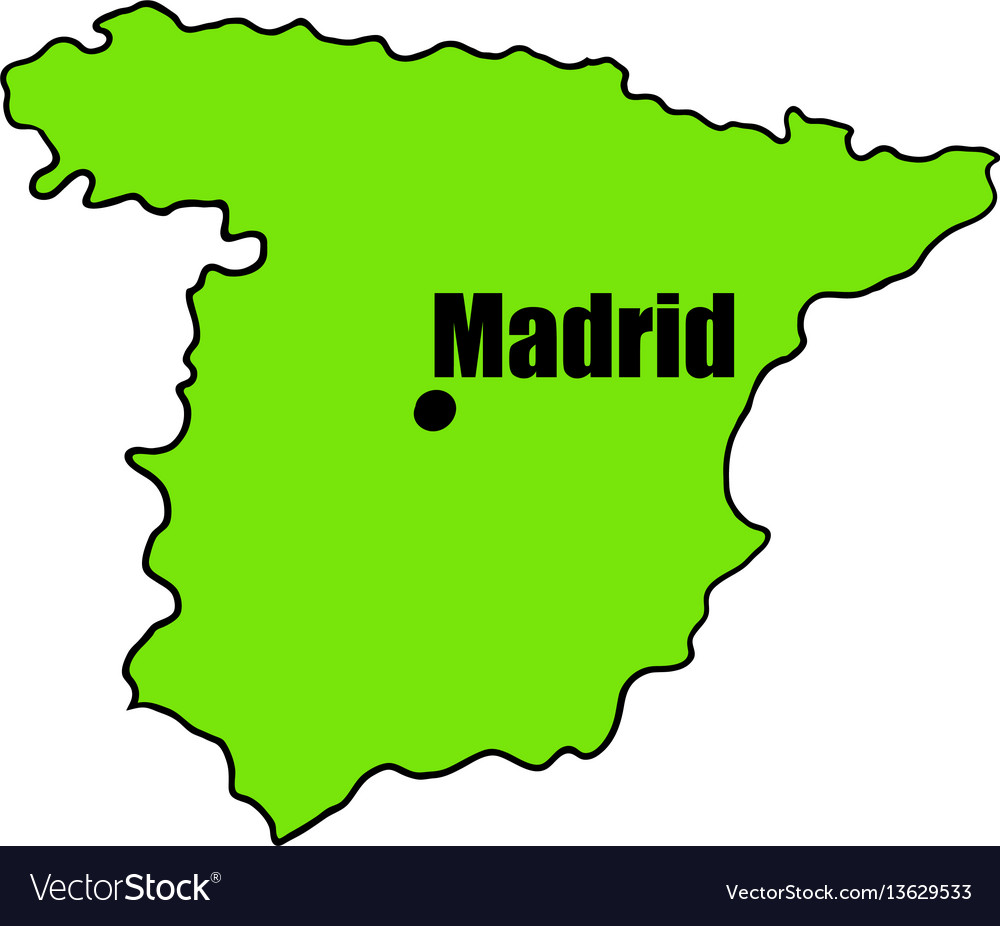 Spanish map icon cartoon vector image