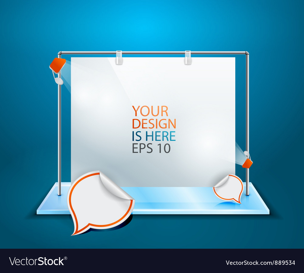 Showroom for posters vector image