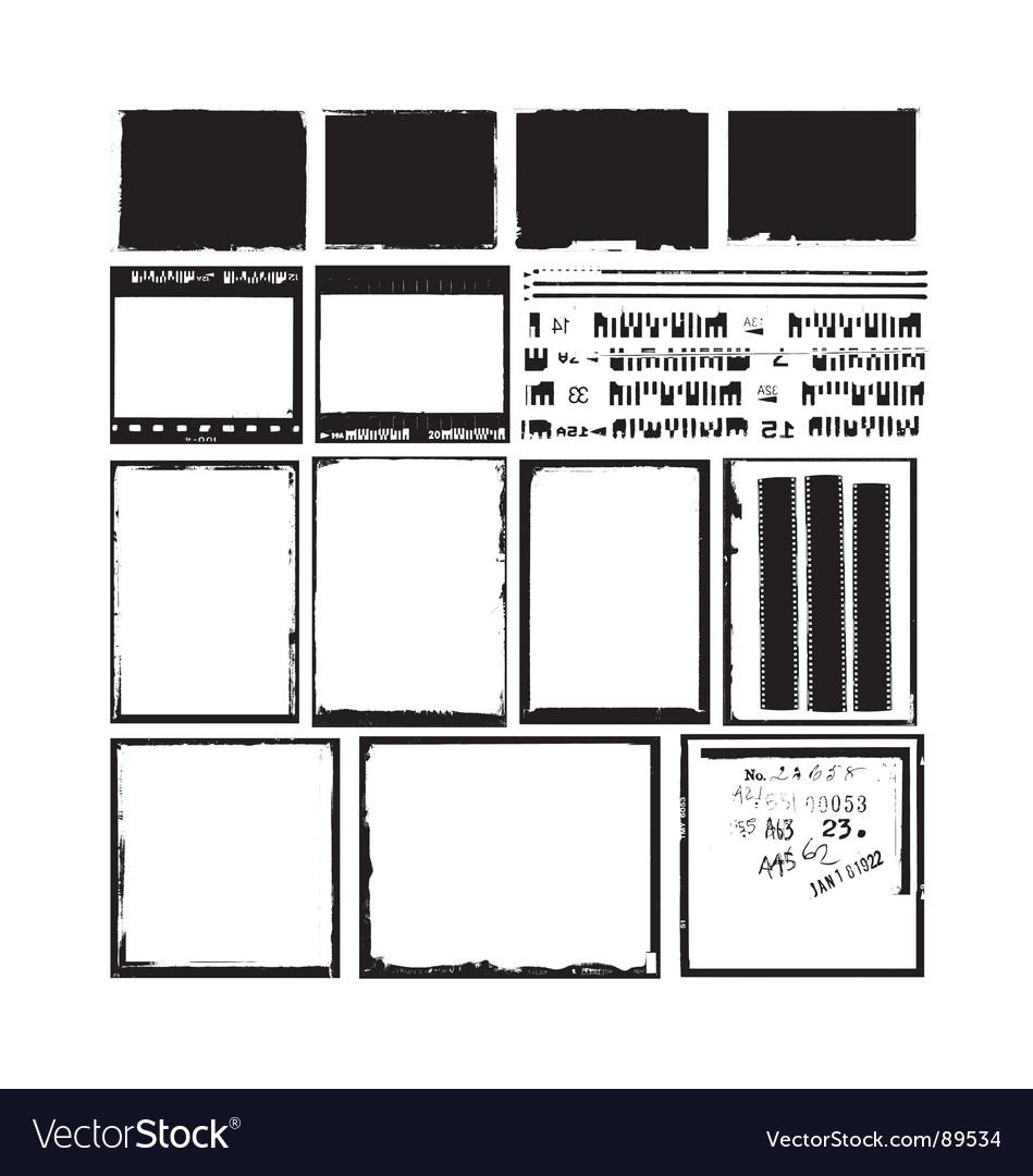 Negative frames Vector Image