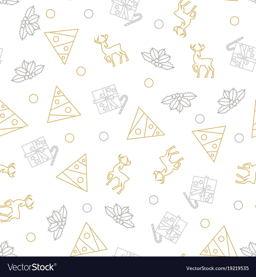 Seamless pattern of christmas decoration in vector image