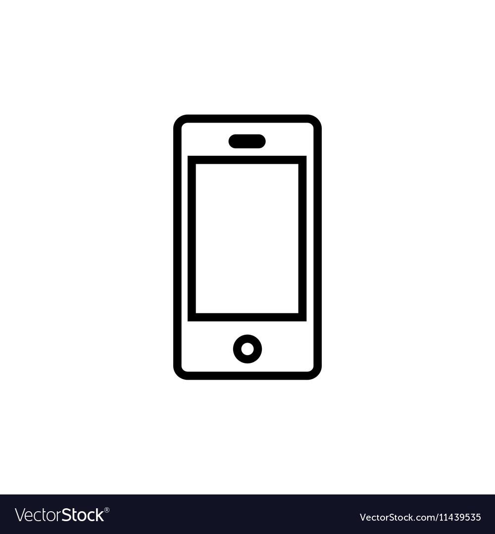 Smartphone line flat vector image
