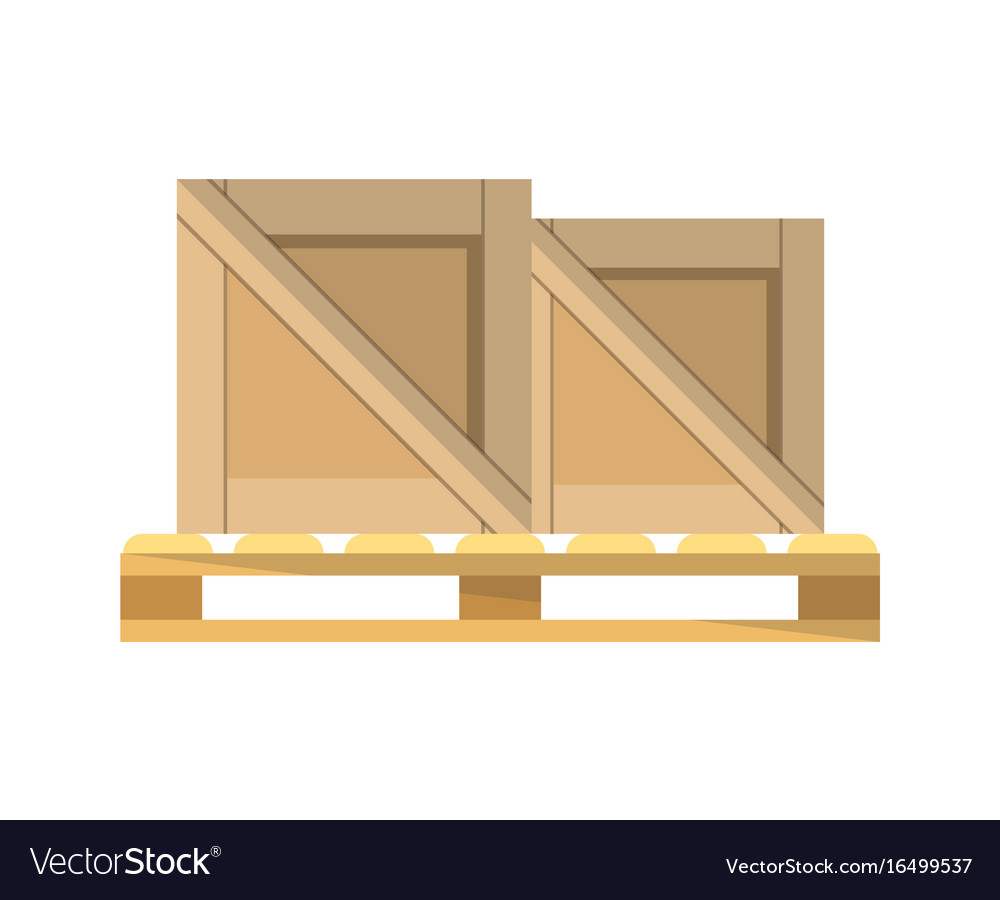Packing boxes on pallet icon vector image