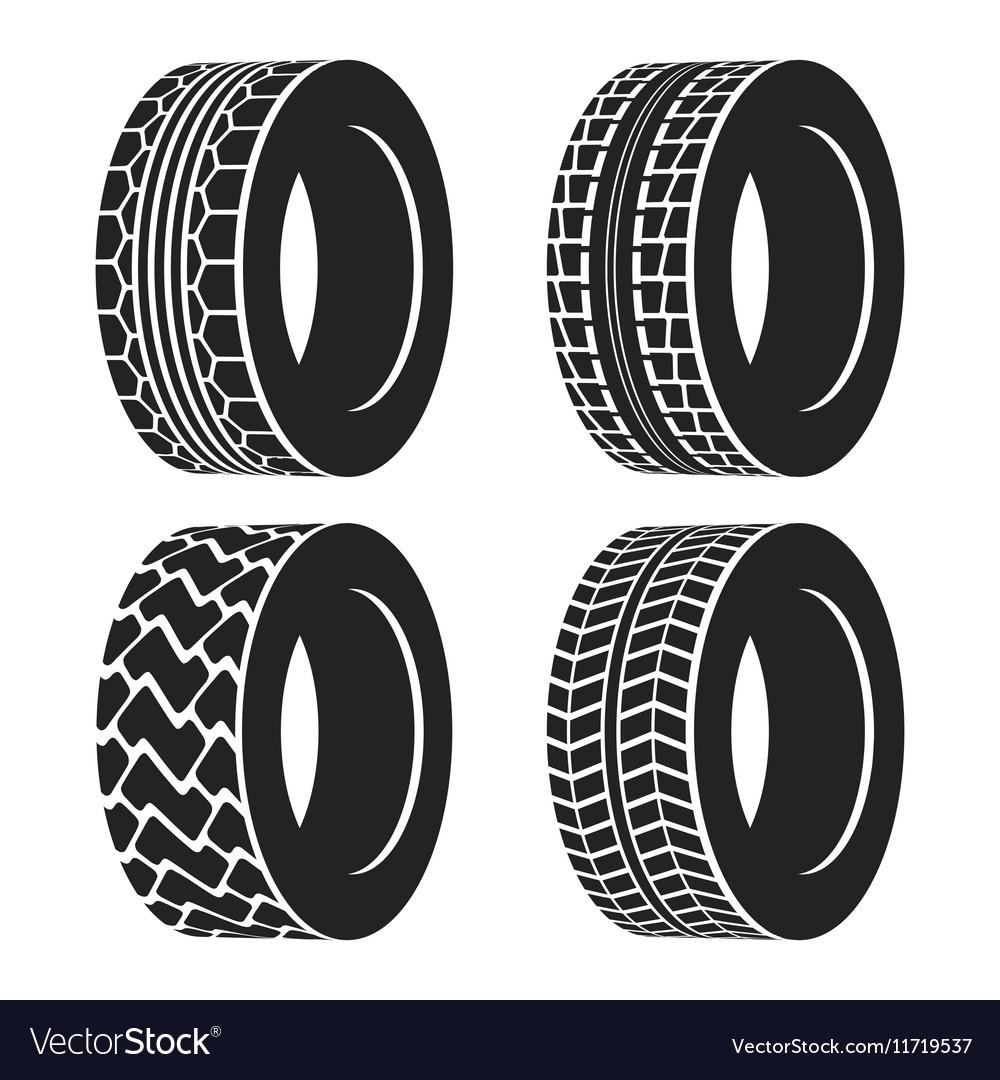 Truck or tractor car tire automobile wheel vector image
