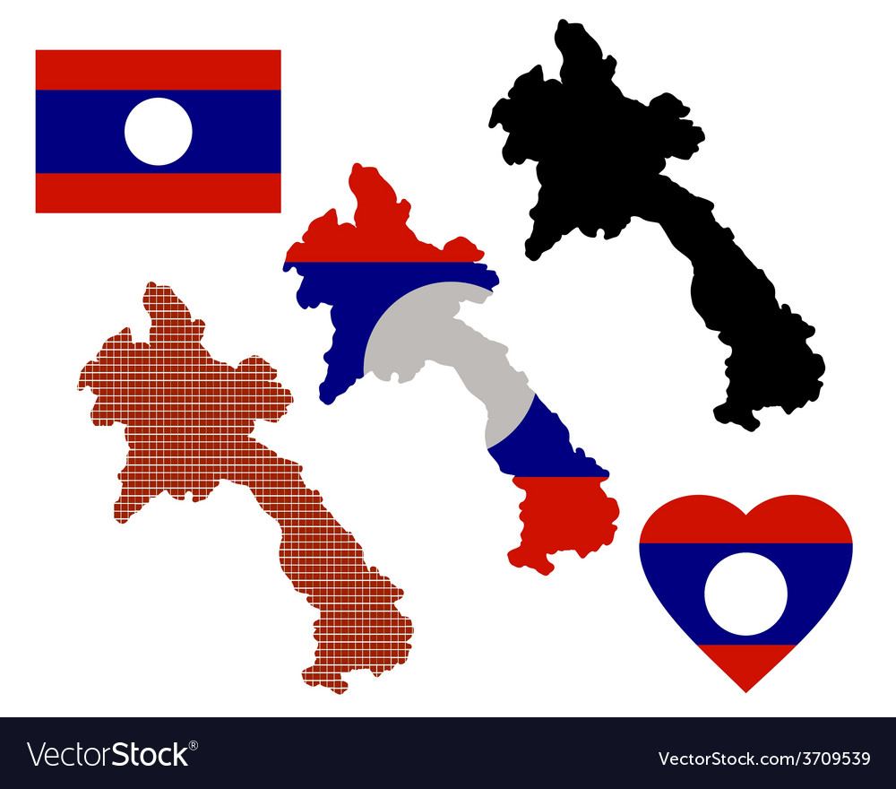Laos Map Royalty Free Vector Image VectorStock - Laos map vector