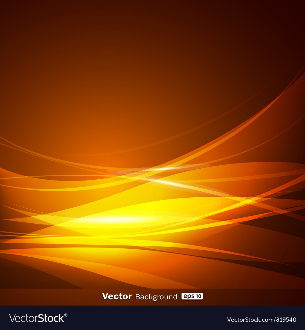 Abstract gold wave background vector image